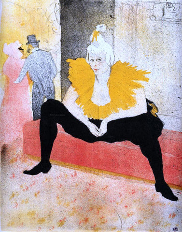 Henri De Toulouse-Lautrec Elles: Cha-U-Kao, Chinese Clown, Seated - Hand Painted Oil Painting