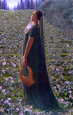Carlos Schwabe Elysian Fields - Hand Painted Oil Painting