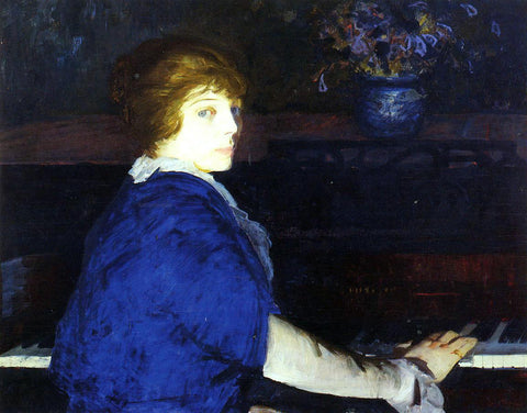 George Wesley Bellows Emma at the Piano - Hand Painted Oil Painting