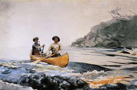 Winslow Homer Entering the First Rapid - Hand Painted Oil Painting