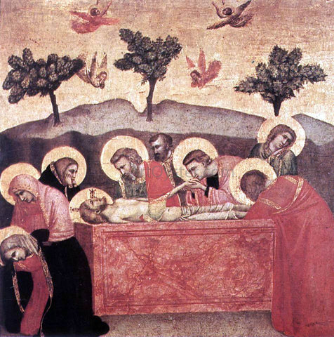 Giotto Di Bondone Entombment - Hand Painted Oil Painting
