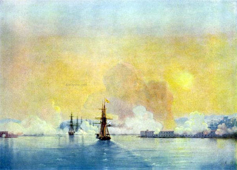 Ivan Constantinovich Aivazovsky Entrance in the bay of Sevastopol - Hand Painted Oil Painting