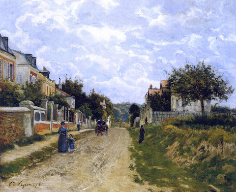 Victor Vignon Entrance to a Village - Hand Painted Oil Painting