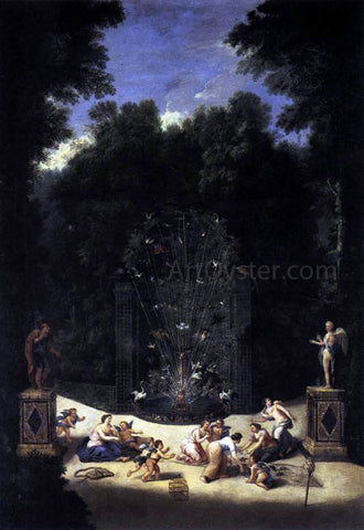 II Jean Cotelle Entrance to the Maze - Hand Painted Oil Painting