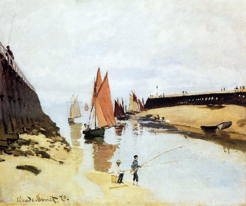 Claude Oscar Monet Entrance to the Port of Trouville - Hand Painted Oil Painting