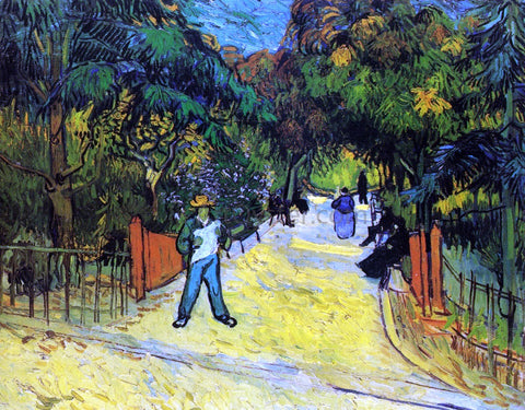 Vincent Van Gogh Entrance to the Public Park in Arles - Hand Painted Oil Painting