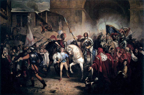Giuseppe Bezzuoli Entry of Charles VIII into Florence - Hand Painted Oil Painting
