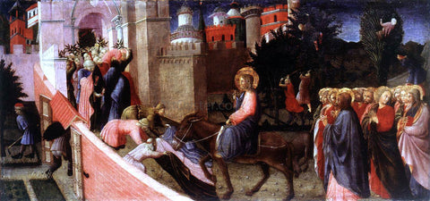 Pietro Di Giovanni d'Ambrogio Entry of Christ to Jerusalem - Hand Painted Oil Painting