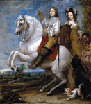 Gonzales Coques Equestrian Portrait of a Couple - Hand Painted Oil Painting