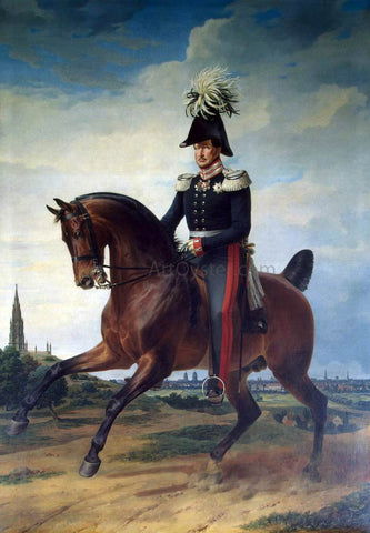 Franz Kruger Equestrian Portrait of Frederick William III - Hand Painted Oil Painting