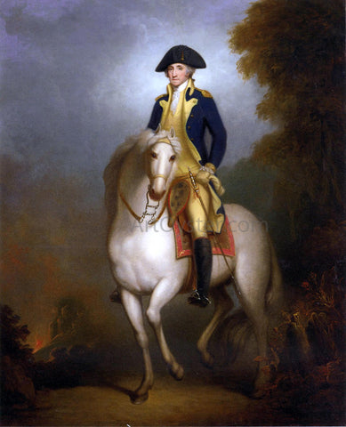 Rembrandt Peale Equestrian Portrait of George Washington - Hand Painted Oil Painting