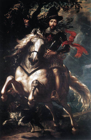 Peter Paul Rubens Equestrian Portrait of Giancarlo Doria - Hand Painted Oil Painting