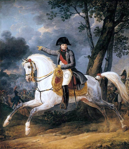 Carle Vernet Equestrian Portrait of of Emperor Napoleon I - Hand Painted Oil Painting
