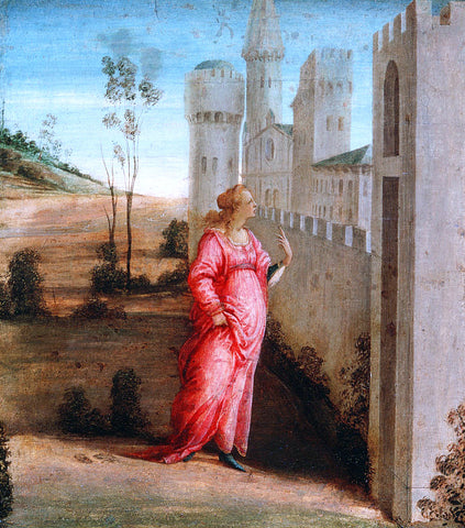Filippino Lippi Esther at the Palace Gate - Hand Painted Oil Painting