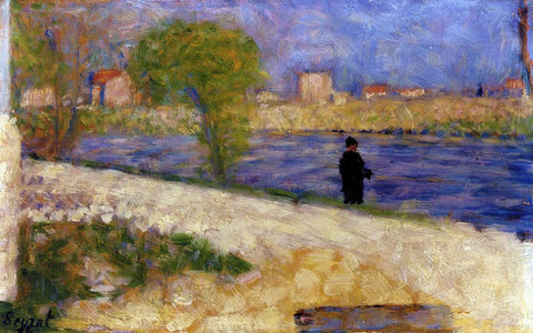Georges Seurat Etude dans l'Ile - Hand Painted Oil Painting