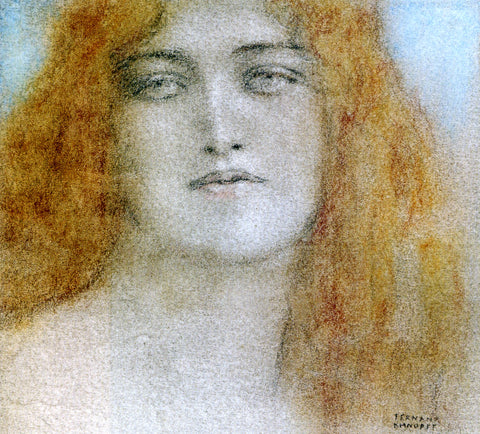 Fernand Khnopff Etude de Femme - Hand Painted Oil Painting