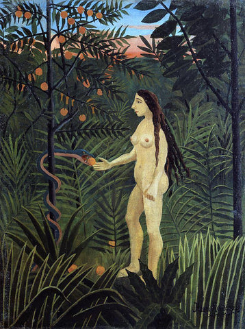 Henri Rousseau Eve and the Serpent - Hand Painted Oil Painting