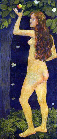 Paul Serusier Eve Picking the Apple - Hand Painted Oil Painting