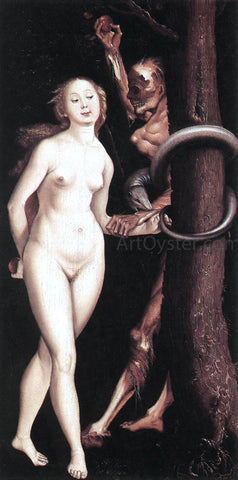 Hans Baldung Eve, the Serpent, and Death - Hand Painted Oil Painting