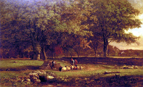 George Inness Evening - Hand Painted Oil Painting