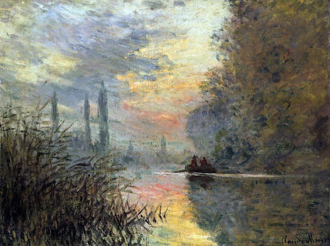 Claude Oscar Monet Evening at Argenteuil - Hand Painted Oil Painting