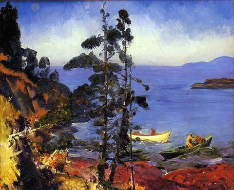 George Wesley Bellows Evening Blue - Hand Painted Oil Painting