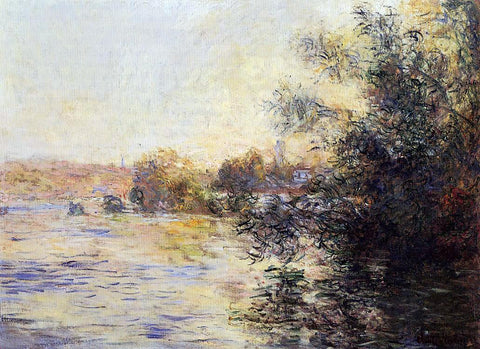 Claude Oscar Monet Evening Effect of the Seine - Hand Painted Oil Painting