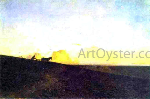 Isaac Ilich Levitan Evening in the Field - Hand Painted Oil Painting