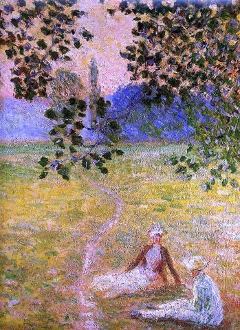 Claude Oscar Monet Evening in the Meadow at Giverny (detail) - Hand Painted Oil Painting