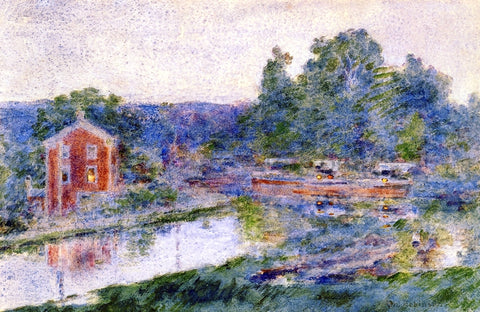 Theodore Robinson Evening on the Canal - Hand Painted Oil Painting