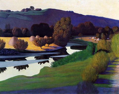 Felix Vallotton Evening on the Loire - Hand Painted Oil Painting