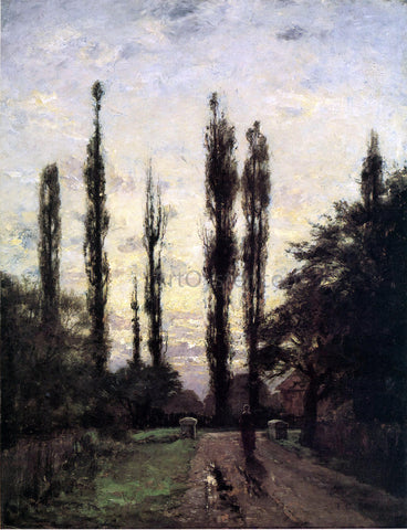 Theodore Clement Steele Evening, Poplars - Hand Painted Oil Painting