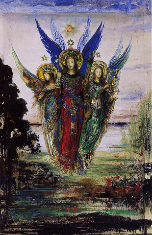 Gustave Moreau Evening Voices - Hand Painted Oil Painting