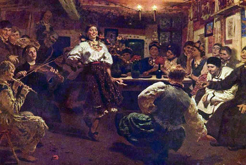 Ilia Efimovich Repin Evening-party - Hand Painted Oil Painting