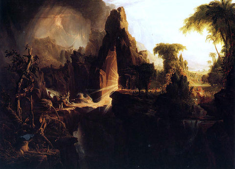 Thomas Cole Expulsion from the Garden of Eden - Hand Painted Oil Painting