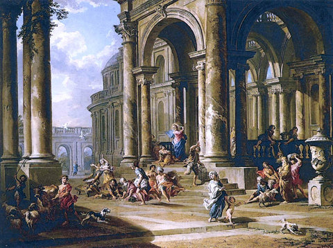 Giovanni Paolo Pannini Expulsion of the Moneychangers from the Temple - Hand Painted Oil Painting