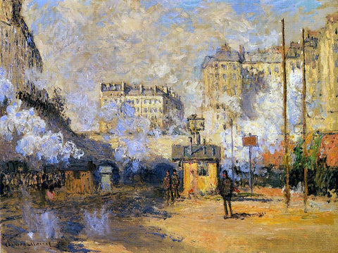 Claude Oscar Monet Exterior of Saint-Lazare Station, Sunlight Effect - Hand Painted Oil Painting