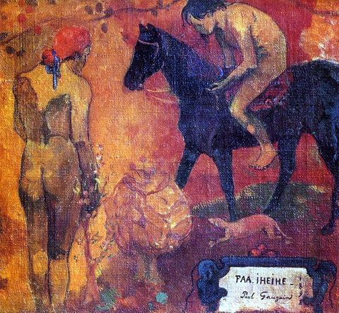 Paul Gauguin Faa Iheihe (detail) (also known as Tahitian Pastoral) - Hand Painted Oil Painting