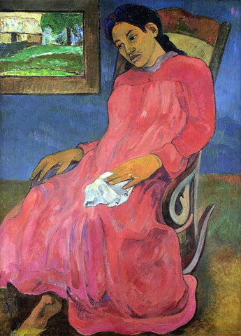 Paul Gauguin Faaturuma (also known as Melancholy) - Hand Painted Oil Painting