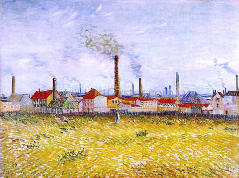 Vincent Van Gogh Factories at Asnieres, Seen from the Quai de Clichy - Hand Painted Oil Painting