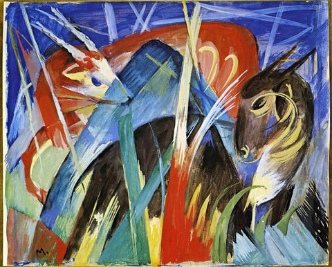Franz Marc Fairy Animals - Hand Painted Oil Painting