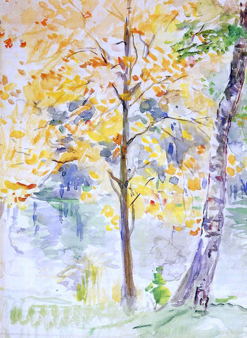 Berthe Morisot Fall Colors in the Bois de Boulogne - Hand Painted Oil Painting