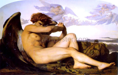 Alexandre Cabanel A Fallen Angel - Hand Painted Oil Painting