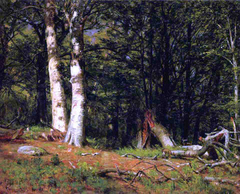 Thomas Worthington Whittredge Fallen Birch - Hand Painted Oil Painting