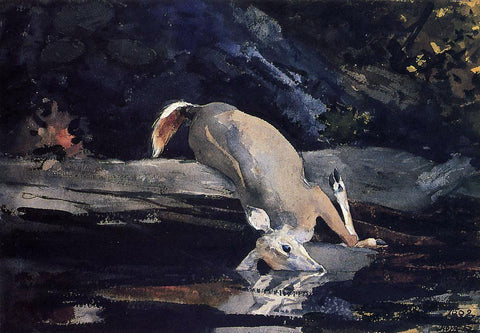 Winslow Homer Fallen Deer - Hand Painted Oil Painting