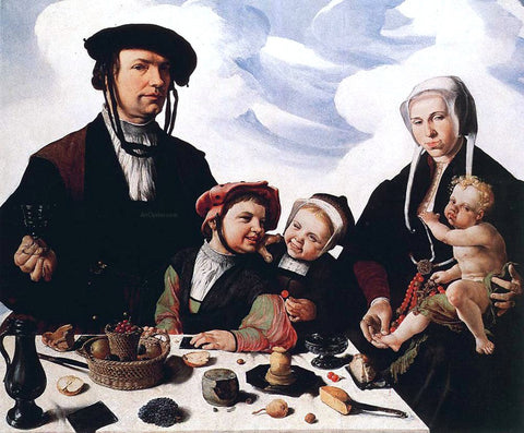 Maerten Van Heemskerck Family Portrait - Hand Painted Oil Painting