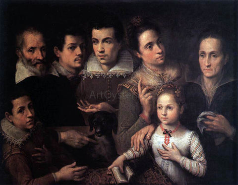 Lavinia Fontana Family Portrait - Hand Painted Oil Painting