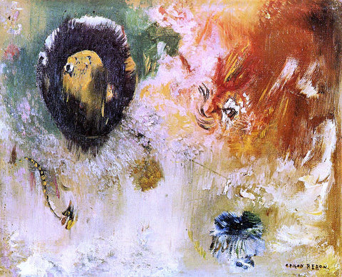Odilon Redon Fantastical - Hand Painted Oil Painting