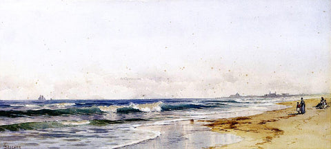 Alfred Thompson Bricher Far Rockaway Beach - Hand Painted Oil Painting