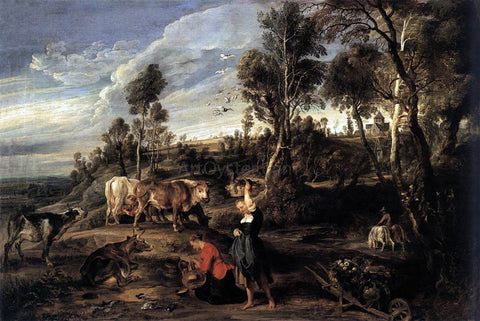 Peter Paul Rubens Farm at Laken - Hand Painted Oil Painting